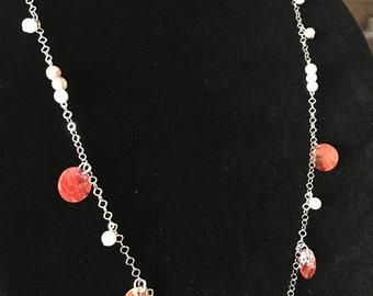 COPPER CANYON   Beaded Necklace   Long Necklace   Handmade OOAK   Versatile Necklace Bracelet Anklet   Handmade Bar Necklace