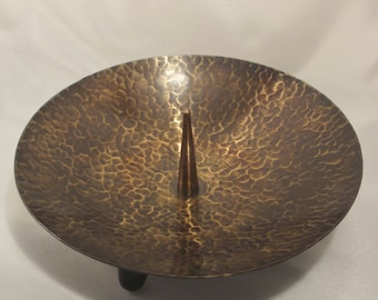 Large candle holder with thorn / tripod 50s 60s