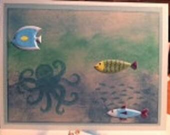 Deep Ocean Childs Birthday Card