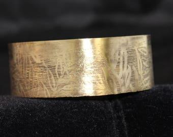 Etched Brass Cuff Bracelet (05212017-038)