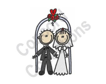 Wedding Couple Machine Embroidery Design