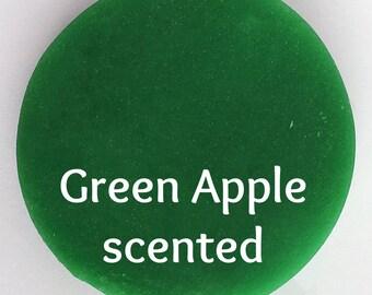 Green Apple Squishy Dough - Green Dough - Kids Dough - Scented Play Dough - Aromatherapy Toys - Sensory Play - Green Putty - Squishy Dough