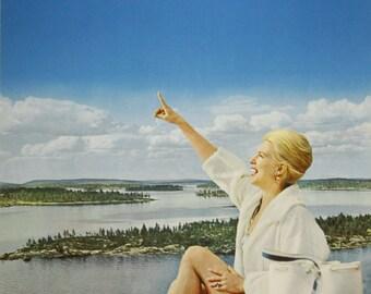 Vintage Finnair Finland Travel Poster Print