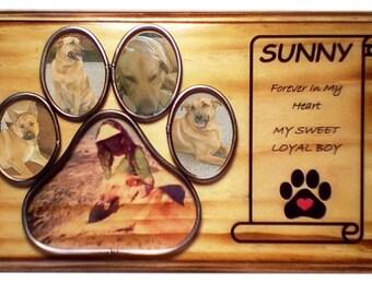 Pet Memorial Portrait, Pet Photo Transfer, Pet Memorial Frame, Personalized Photo, Rustic,  Home Decor, In Memory Of Dog, Pet Loss Gift