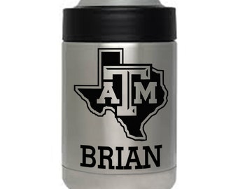 12 oz YETI colster Texas A&M Aggies Christmas gift personalized custom engraved Authentic
