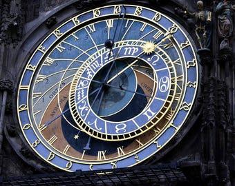 Prague Photography, Prague Print, Astronomical Clock Art Print, Travel Photography,Wall Print, Wall Decor, Framed Art, Home & Office, Art