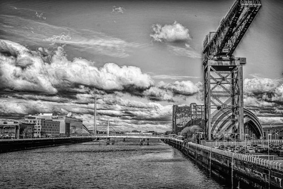 river clyde, glasgow, finnieston crane, river, water photography, scotland, scottish photography, wall art, wall decor, glasgow landmarks