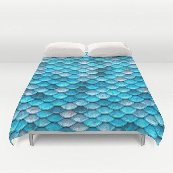 Blue Duvet Cover Mermaid Comforter Blue Comforter Nautical