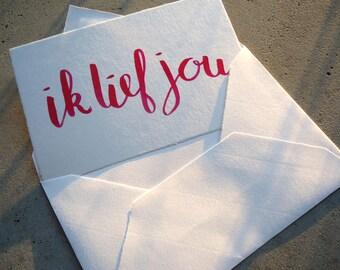 Card Ik lief jou
