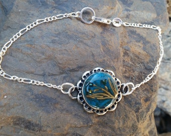 Lily Pad Bracelet / one of a kind / gift idea