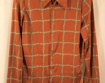 Nik Nik Shirt, 70s Shirt,Vintage Mens Shirt