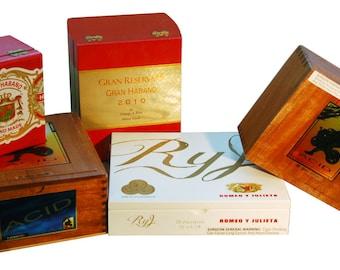 SPECIAL SALE* 5 Random Wood Empty Cigar Boxes