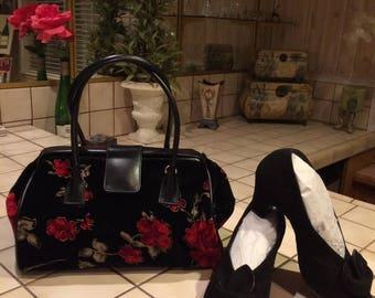 Vintage shoes & Rose purse