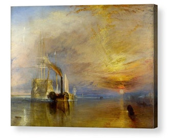William Turner The Fighting 'Téméraire'  Canvas Box Art A4, A3, A2, A1 ++