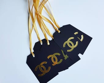 Tags Gold Chanel. Paper Party Decorations