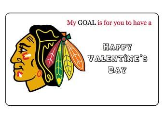 Printable Chicago Blackhawks' Valentines