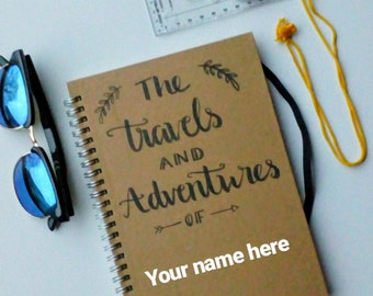 Personalised Travel Journal- Notebook- Adventure Book