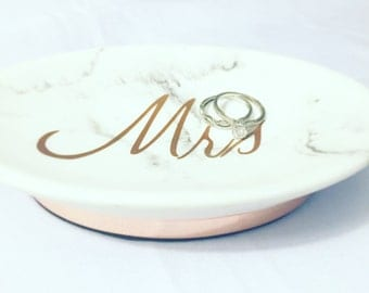 Mrs marble jewelry holder