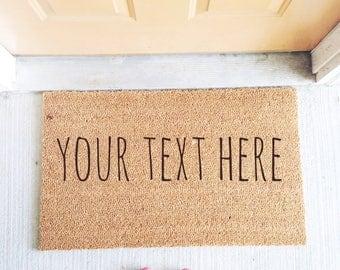 Custom Door Mat, Personalized Door Mat, Welcome Door Mat, Funny Door Mat, House Warming Gift, New Home Gift, Customizable Door Mat, Door Mat