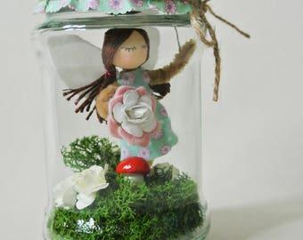 Fairy in a jar decoration - Lizette - Fairy Godmother - Wish Jar - fairy decoration - fairy guardian