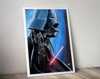 Darth Vader A4 print