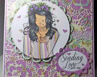 Sending Love Handmade Card