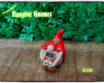 "The "" Smoker "" Gnome! Handmade from clay and one of a kind! ( Item # S336 )"