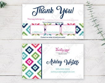 Thirty One Bag Tag - Candy Corners (template)