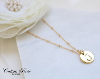 Custom Initial Necklace Alphabet Necklace Initials Necklace Minimalist Necklace Rose Gold Necklace Bridal Jewelry Monogram Necklace
