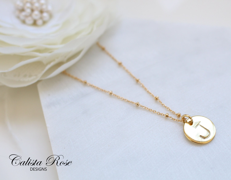 custom initial necklace alphabet necklace initials necklace