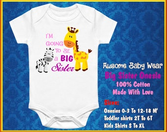 Im going to be a big sister Onesie. Baby Suite Funny onesie Baby Gift Onesie, Printed on 100% Cotton Onesie