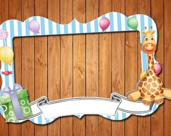 Giraffe  themed party photo frame