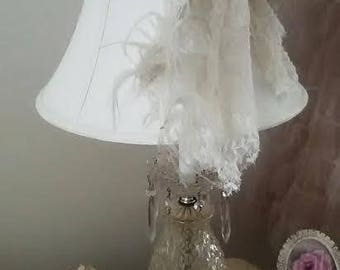 Crystal Shabby Chic lamp
