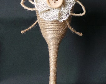 Rustic Wedding Champagne Flute