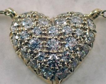 "18k Yellow Gold ""Sunna"" Diamond Heart Necklace"