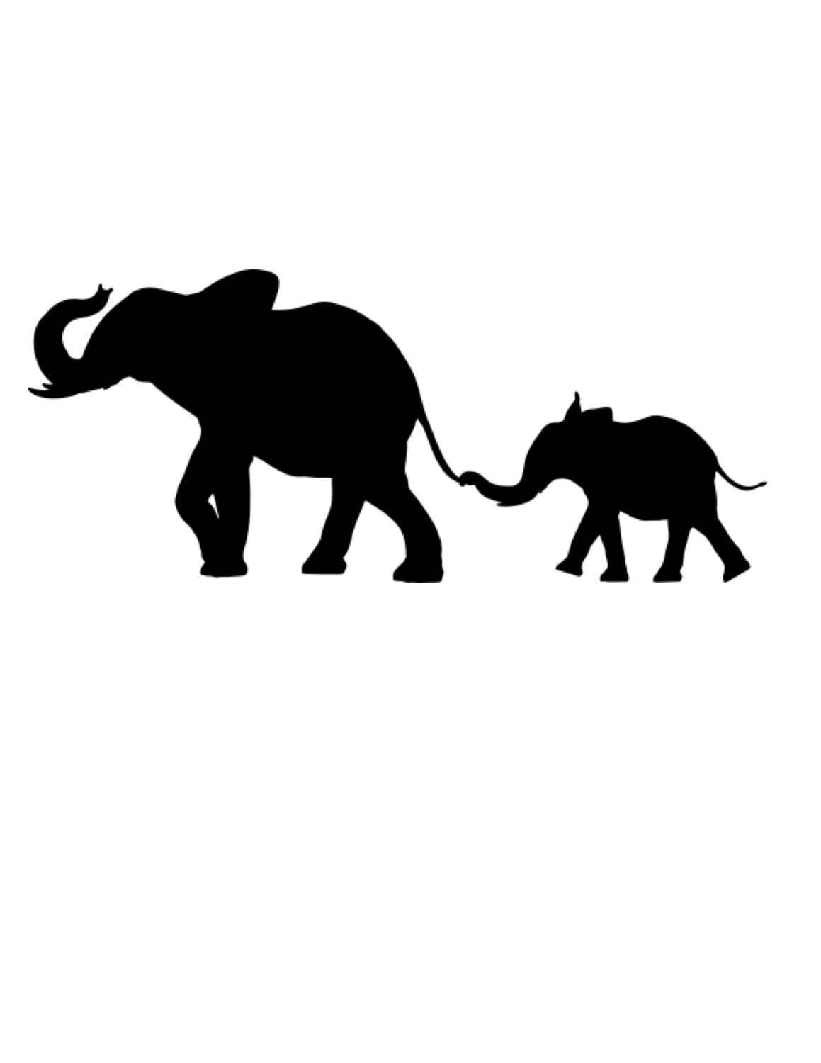 Pack Of 3 Elephant With Baby Elephant Stencils Made From 4