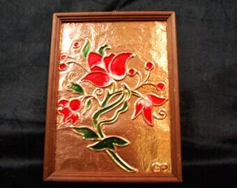 Vintage copper art, made in Sweden , home decor, wall decor, copper.