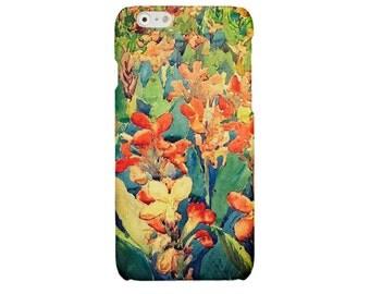 Floral iPhone case orange iPhone 5 6 7 art iPhone 6 7 plus cover iPhone SE iPhone 4 4S case Samsung Galaxy S7 S4 S5 S6 case flower