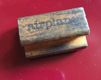 Vintage Airplane Stamp