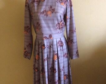 1970's Flower Print Dress by Glenard