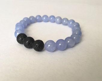 Essential Oil Aromatherapy Bracelet - Light Blue