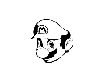 Super Mario Decal - Mario Brothers / Gamer Decals / Nintendo Gift / Gamer Decor
