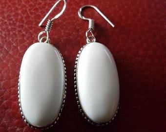 White Jade Earrings!