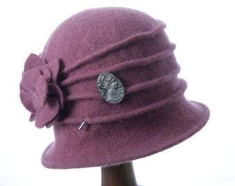 Pink Miss Phryne Fisher 1920s cloche hat