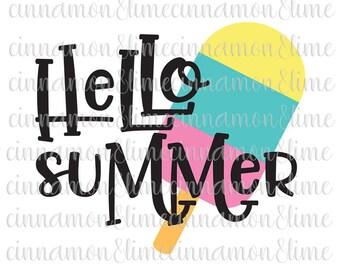 Hello Summer Svg, Summer Svg, Beach Svg, Summer Time Svg, Ocean Svg, Vacation Svg, Sea Svg, Beach Quote Svg, Summer Svg Design