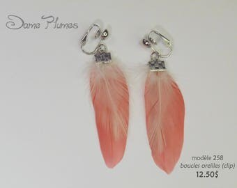 feathers earrings (clips )