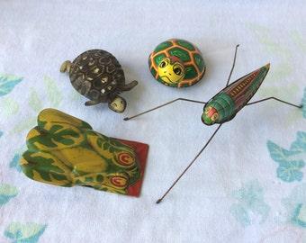 Set of Tin Litho Toys