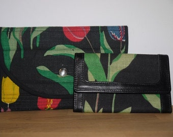 Josef Frank - Svensk Tenn - Design - Purse - Wallet - -Clutch -Bag - Tulip - Retro - Scandinavian Design -