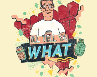 King of the Hill Hank Hill 1990s Retro T-Shirt - I'm Ready