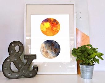 Sun and Moon Print, Live Sun Love Moon, Astronomy Print, Sun Moon Wall Art, Sun and Moon Art, Sun and Moon Decor, Sun and Moon Gift